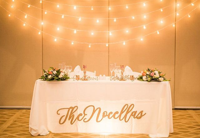 "✨ Custom 48"" last name sign for @krystalnocella18's sweetheart table 💕 Photo by @kaitlynferris_"