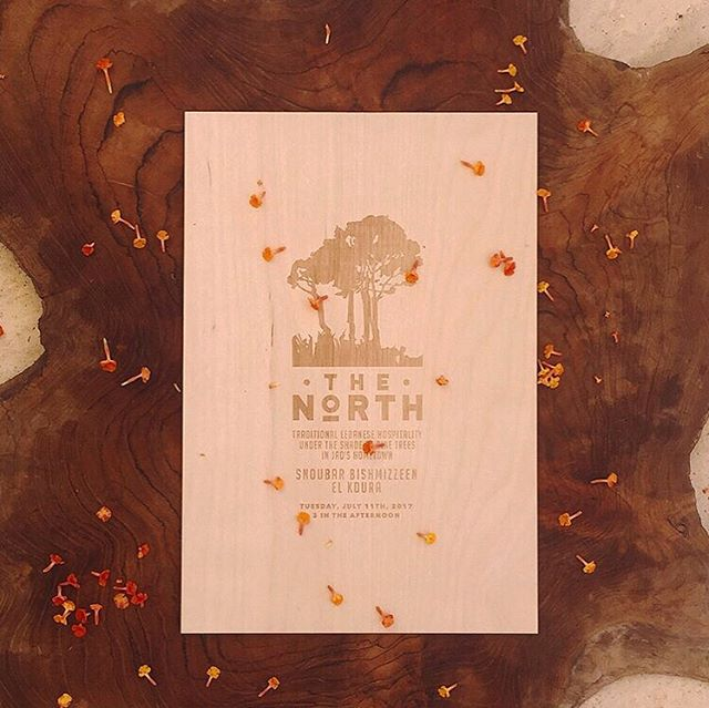Here's an etched wooden invitation that we worked on for @shindigbespoke. This was for a festive wedding soirée under the trees of Northern Lebanon 🌲🌳🌿