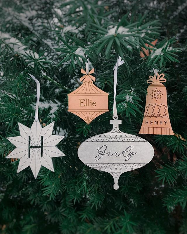 We're excited to launch our new, vintage inspired custom ornament designs! FYI I'll be cutting orders off early this year's get these while you can (and while they're still 20% off!). Now through Monday, we're partnering up with a lot of great shops through @babyjives gift guide who will all be running their own sales using the code JOYOUS at checkout. I highly recommend that you follow the hashtag #shopsmallbejoyous to check out the other shops, too!
