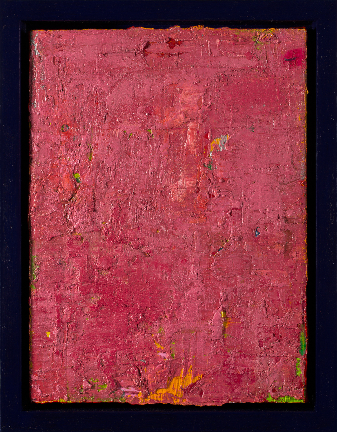 Sherbet Sky, 2015, oil on canvas, acrylic on timber frame, 35.5 x 28 x 5.5cm