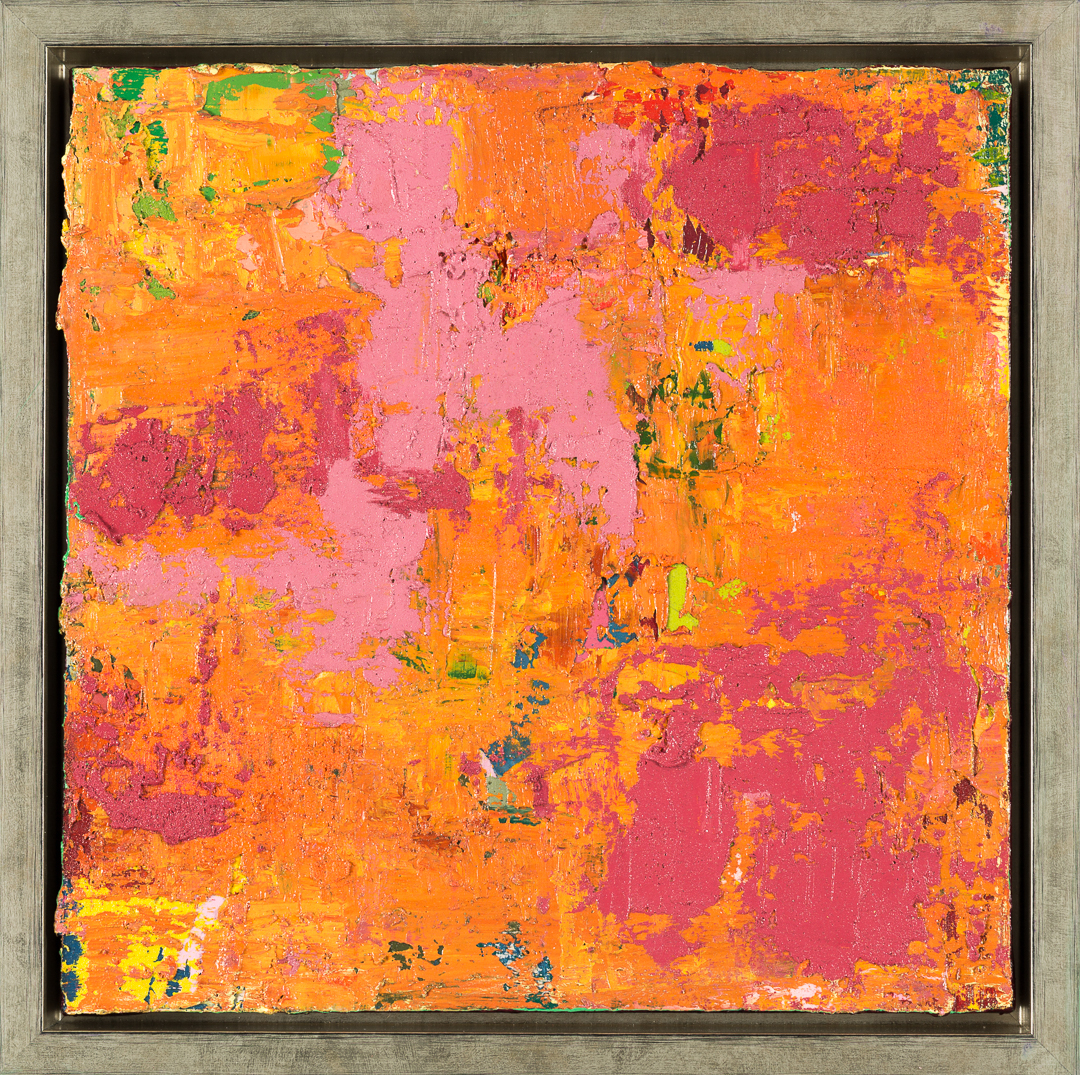 Falling In Love, 2015, oil on canvas, acrylic on timber frame, 35 x 35 x 5.5 cm