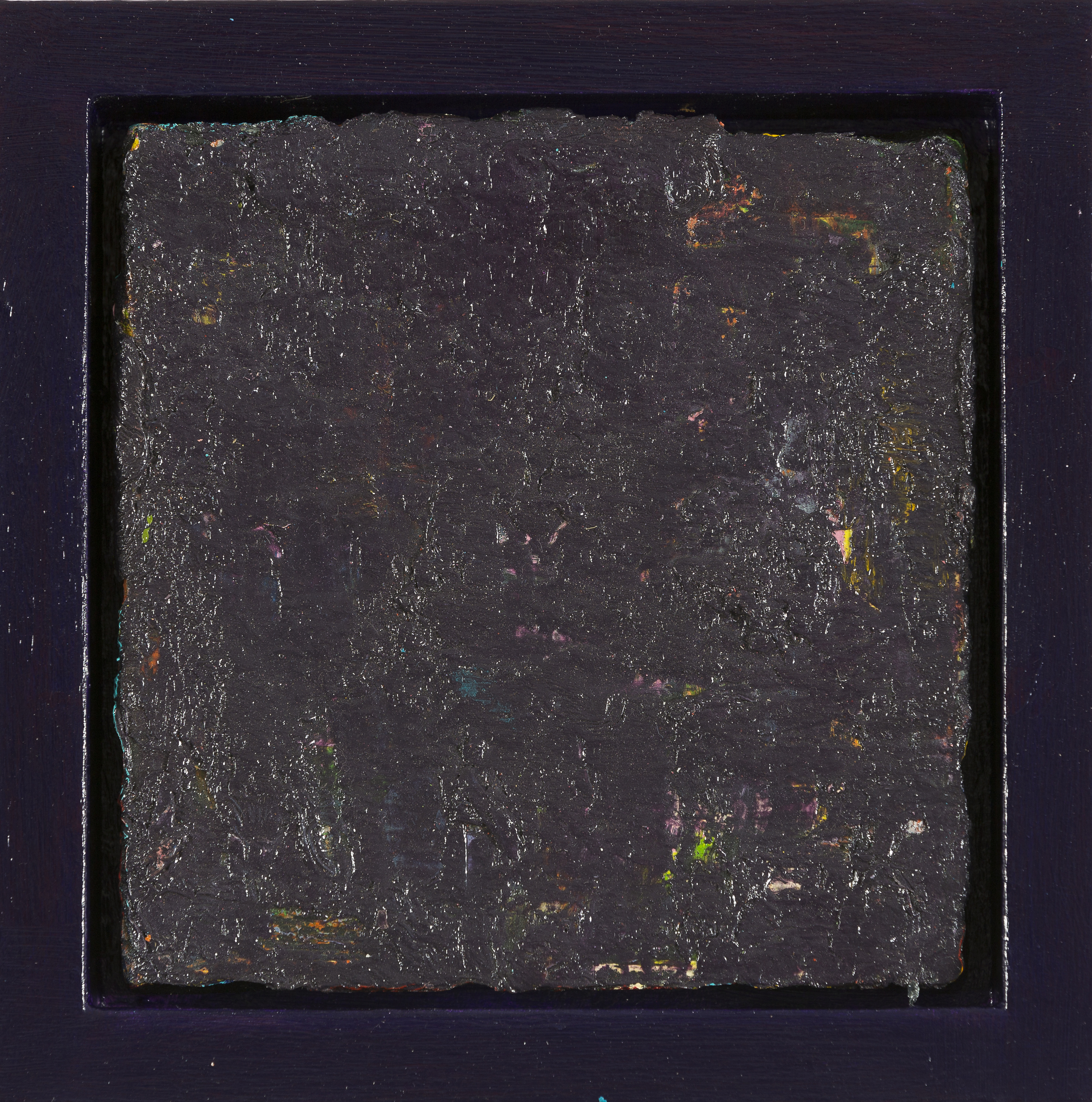 Ancho Pepper, 2015, oil on canvas, acrylic on timber frame, 20 x 20 x 5.5 cm
