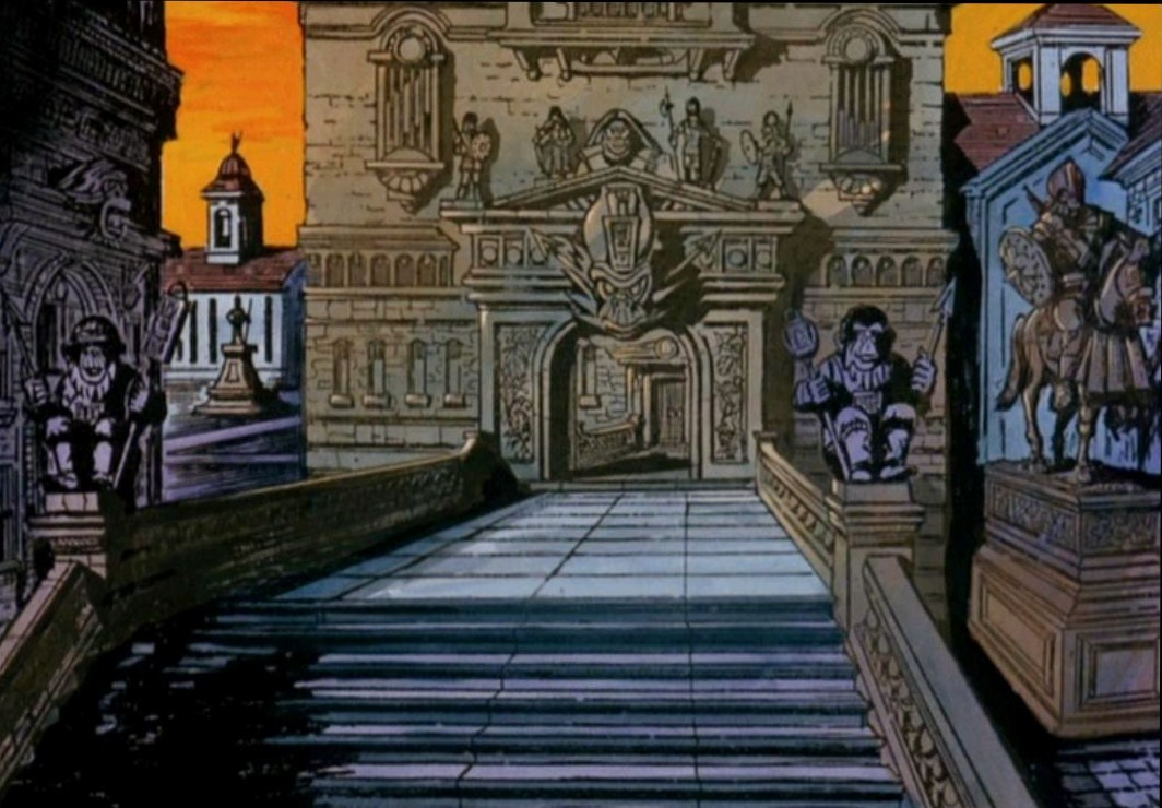 Despite low production values, the animated series had particularly interesting background paintings, albeit very often reused.