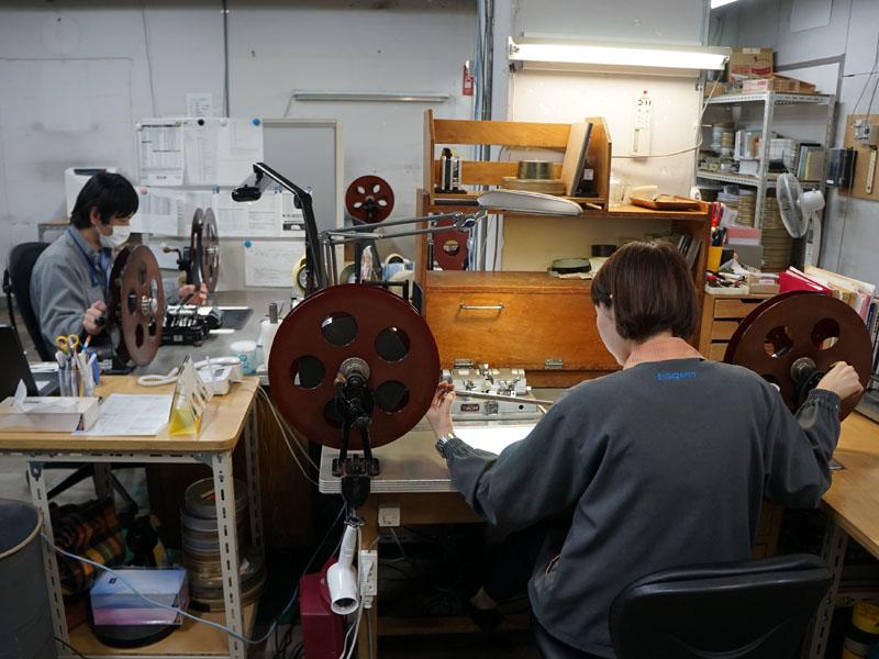 Film masters of Seven Samurai are inspected at Toho (Image: AV Watch Japan)