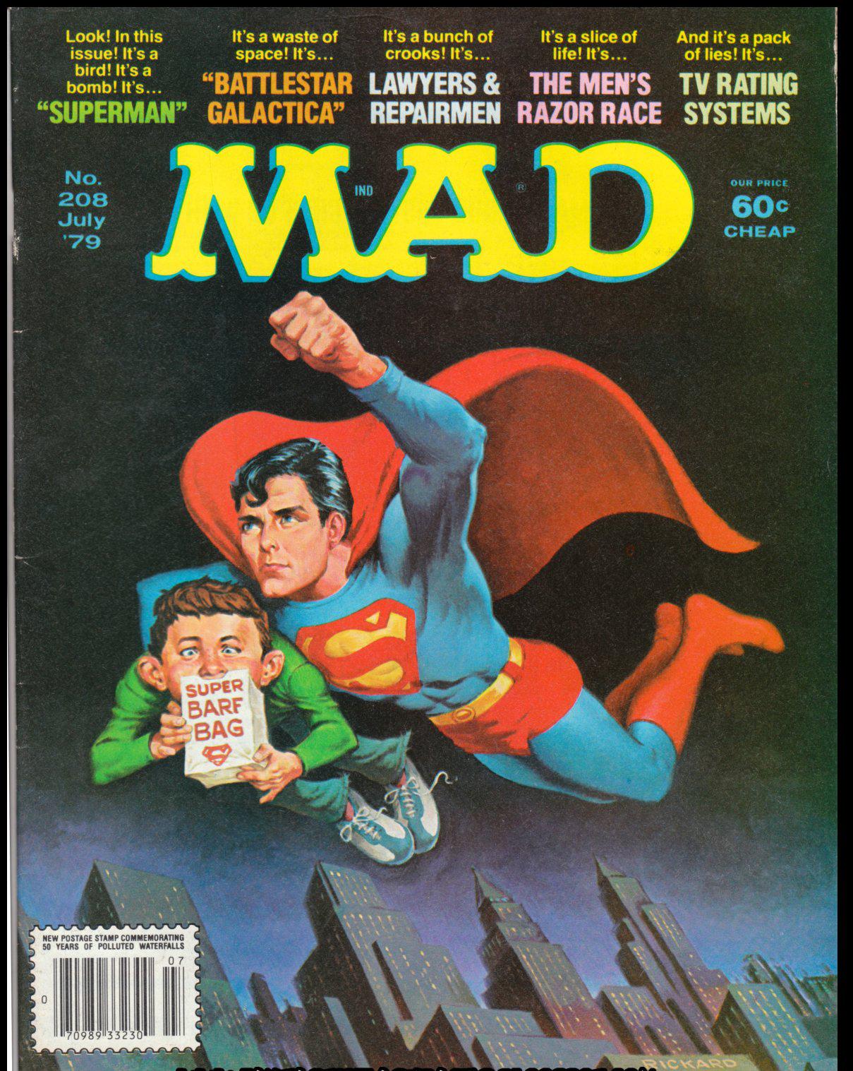 'Superman', July 1979 by Jack Rickard.