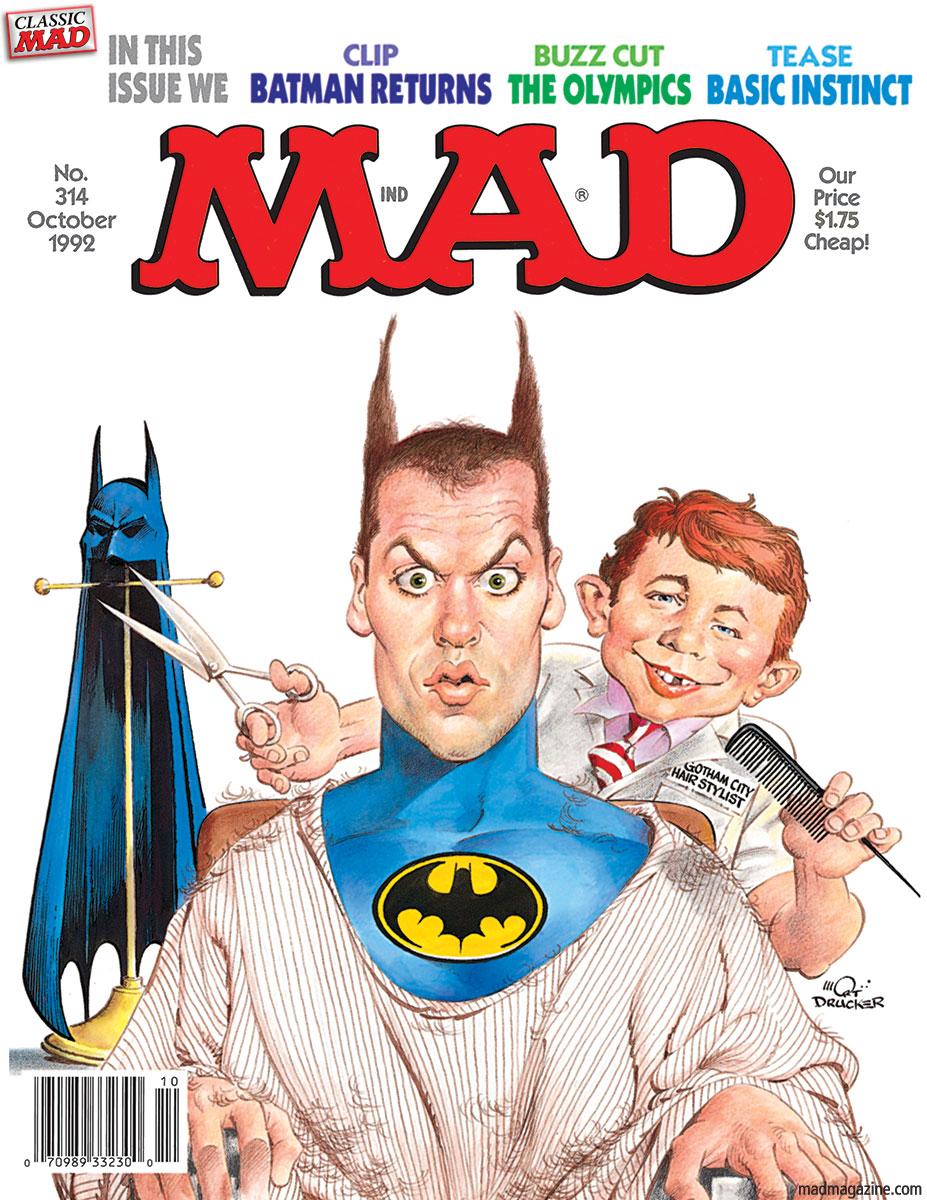 'Batman Returns', October 1992 by Mort Drucker.