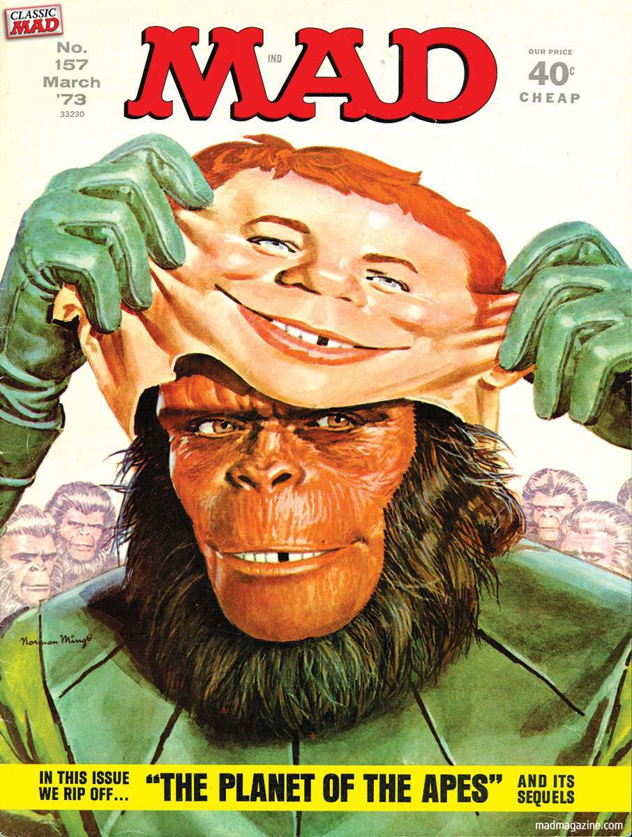 'Planet of the Apes (parts 1-5)', March 1973, by Norman Mingo.