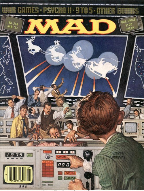 """""""War Games', January 1984 by Richard Williams."""