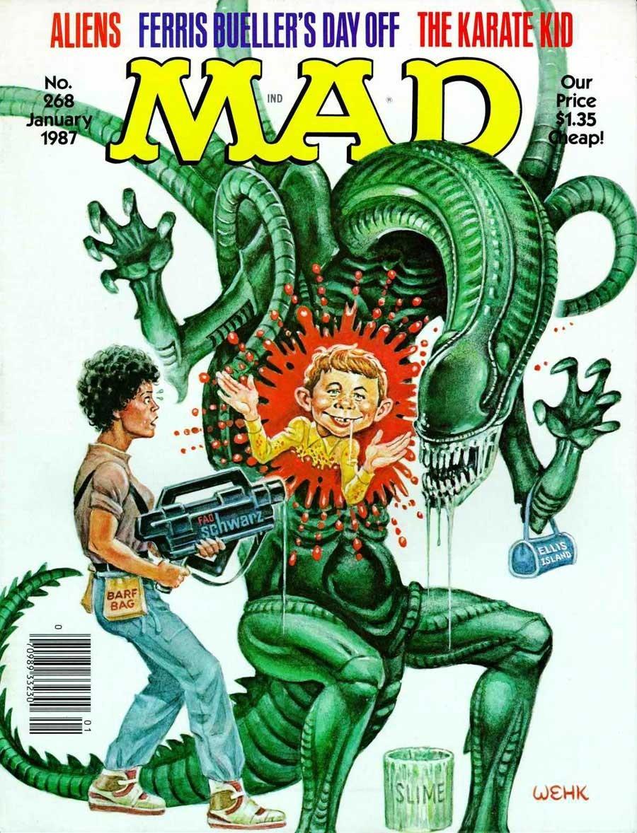 'Aliens', January 1987 by Will Elder and Harvey Kurtzman.