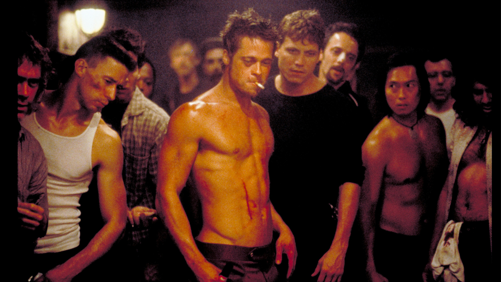 FIGHT CLUB (1999 / DCP) - Sat Jan 26th 7:30pm / Aero Theatre, Santa Monica CATwenty years on and it's still baffling to see how this subversive and scathing commentary on capitalism got backed by a major studio. It tanked at the box office, not helped by many mainstream movie goers thinking it was a boxing movie starring Brad Pitt. The result is a beautifully dark satire that amassed a sizable cult following and regular screenings for the last two decades.More info HERE