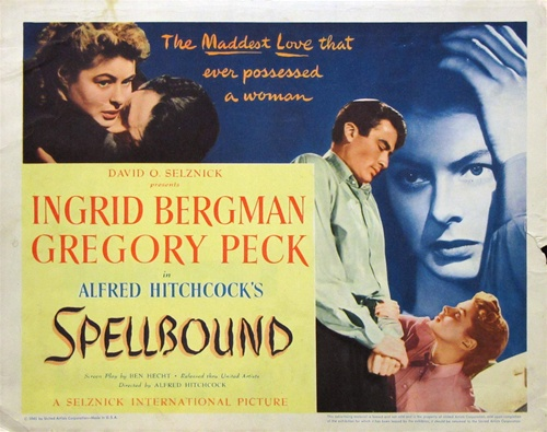 SPELLBOUND (1945 / 35mm Print) - Fri Feb 15th 1pm & 5:30pm / Metrograph, New York CityHitchcock goes in for psychoanalysis in this singular thriller, made under the influence of Sigmund Freud and Salvador Dalí, the latter of whom designed the dazzling dream sequence. Analyst Ingrid Bergman falls for amnesiac patient Gregory Peck—but is there a murderer's heart lurking beneath that dapper exterior? The delirium only grows more intense and Miklós Rózsa's theremin-inflected score more urgent as her doubts grow and she draws closer to the truth.More info HERE