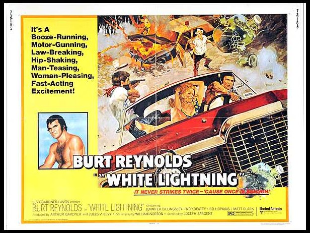 WHITE LIGHTNING (1973 / 35mm Print) + THE LONGEST YARD (1974 / 35mm Print) - Fri Feb 15th 6:30pm / New Beverly Cinema, Los Angeles CAThe New Beverly continues it's tribute to Burt Reynolds with two brilliant classics from the 1970s, screening with rare 35mm Prints.More info HERE