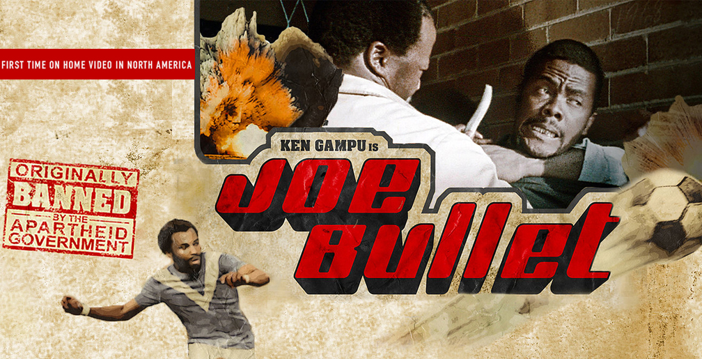 """JOE BULLET (1973 / Digital) - Sat Feb 16th / Spectacle Theatre, Brooklyn NYThe first South African film with an all-Black cast, JOE BULLET was shown twice before it was banned by government censors – producer Van der Merwe would later say that """"in those days, it was taboo for a black man to have a firearm."""" Anchored by the steely yet mega-charismatic performance of Ken Gampu, JOE BULLET is an apartheid-era answer to SHAFT and SUPERFLY, a must-see for any connoisseur of international action cinema. sh.More info HERE"""