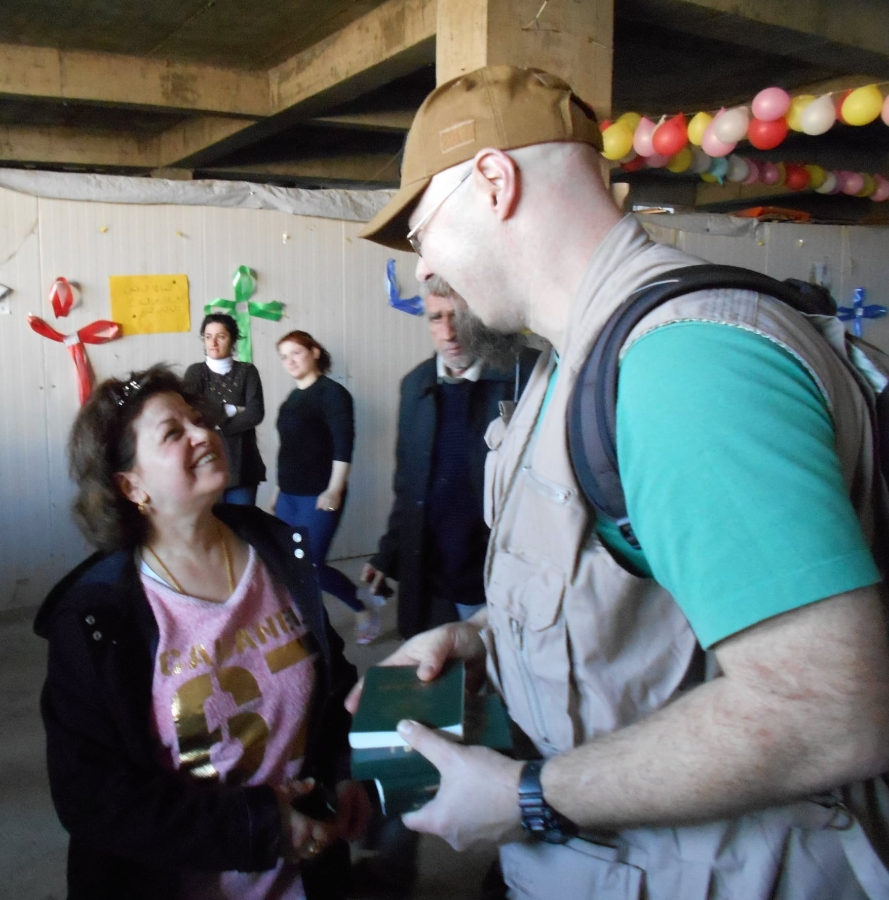 Delivering food, dental care and Bibles to Christian refugees, Iraq