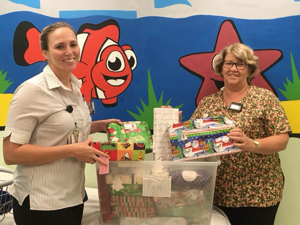 The Donations box was delivered to Ryde Hospital with so many gifts for the kids.