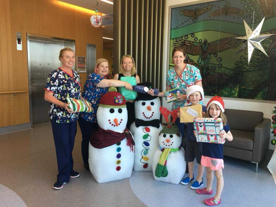 Gifts and toys being delivered to the ER and Children's Ward at RNSH. St Leonards.