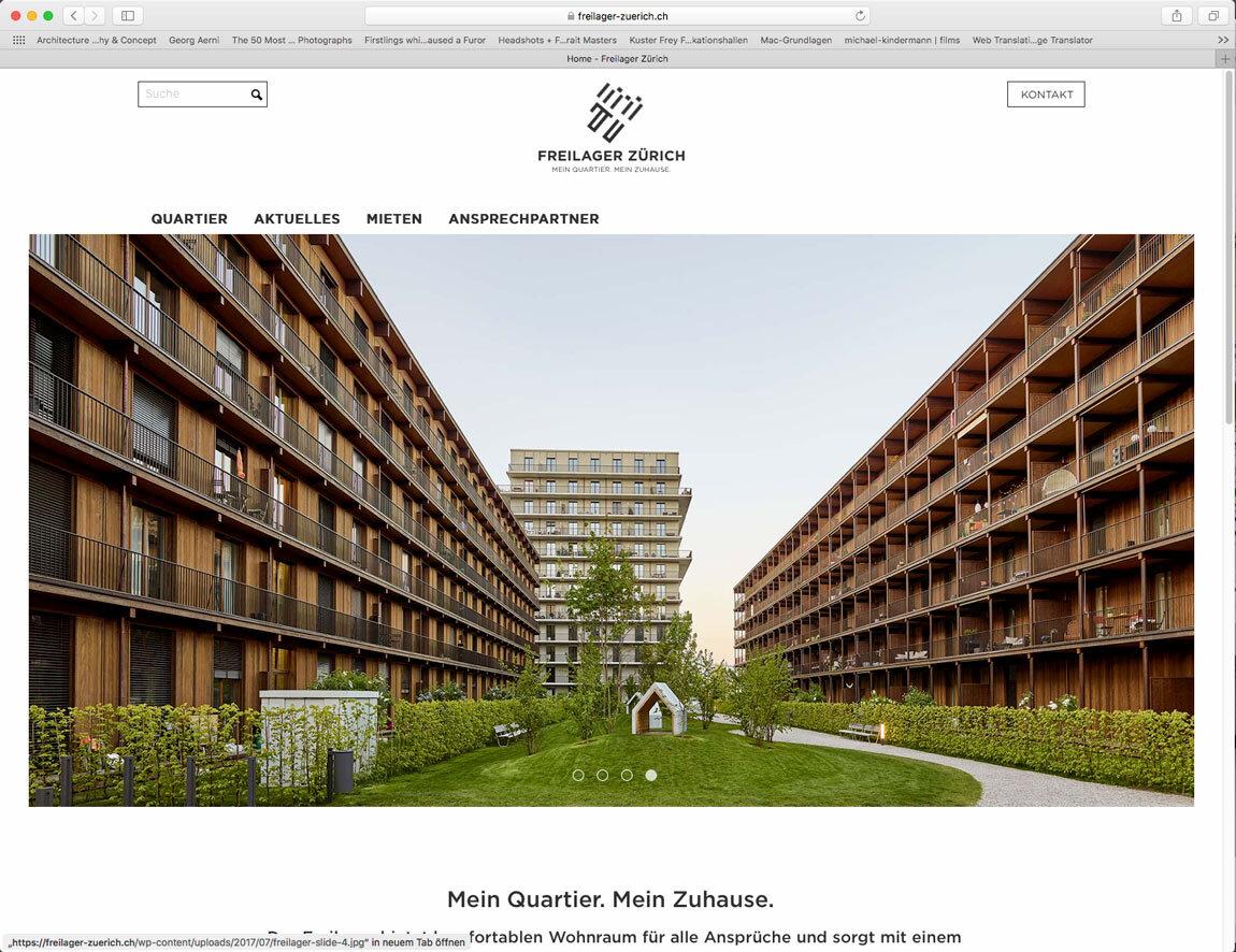 Webseite Freilager