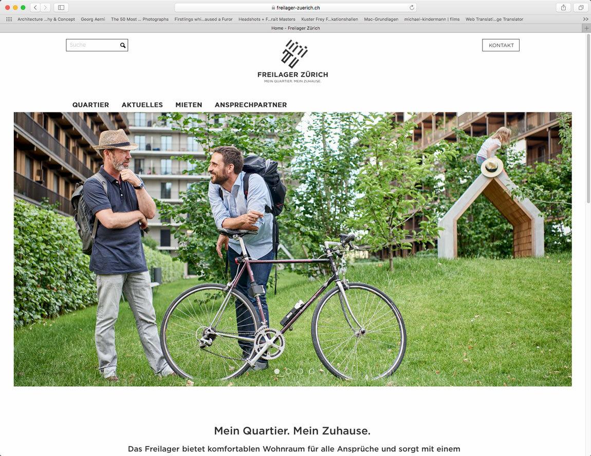 Webseite Freilager Zürich