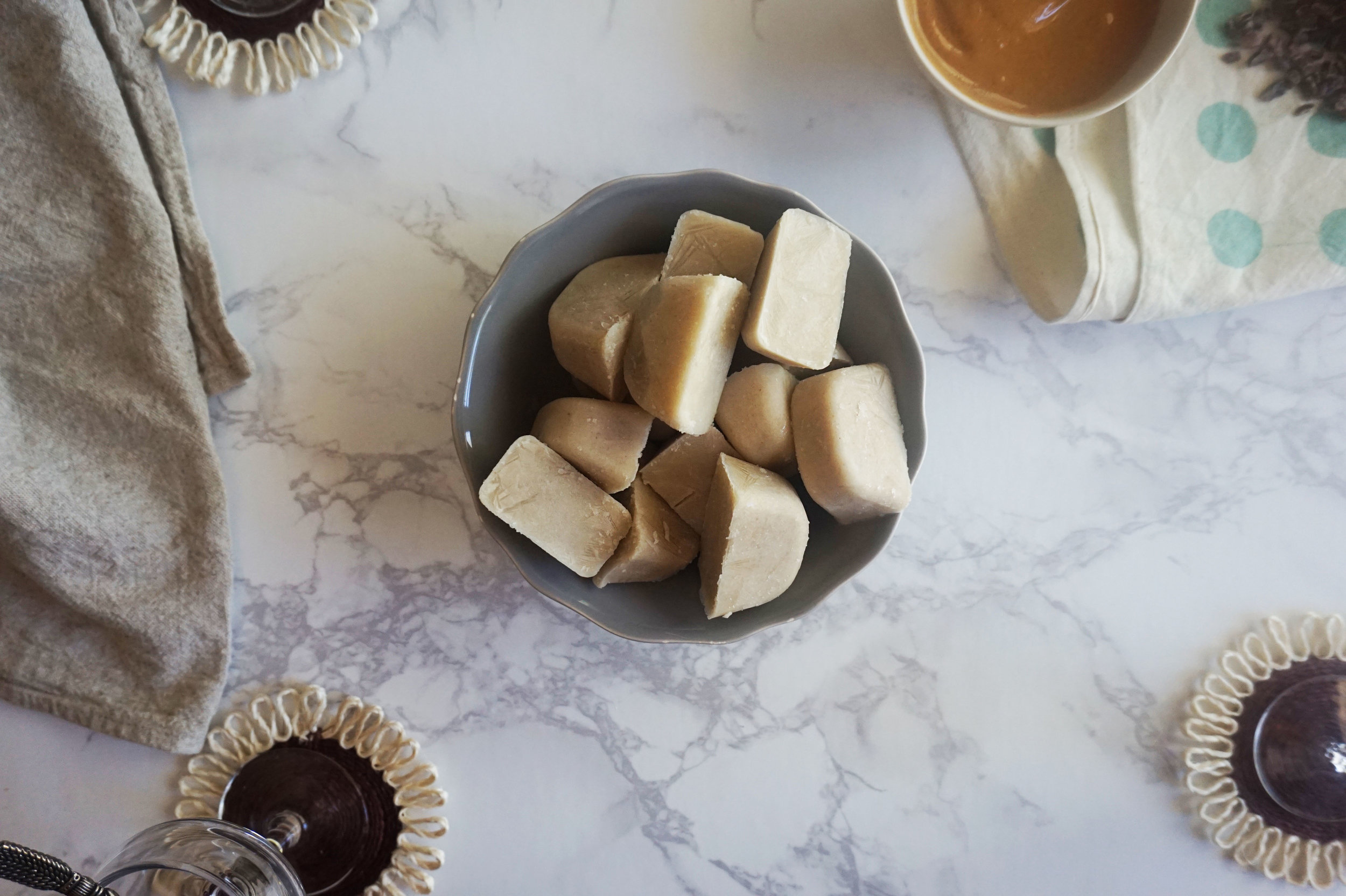 Prep the Cashew Milk ice cubes