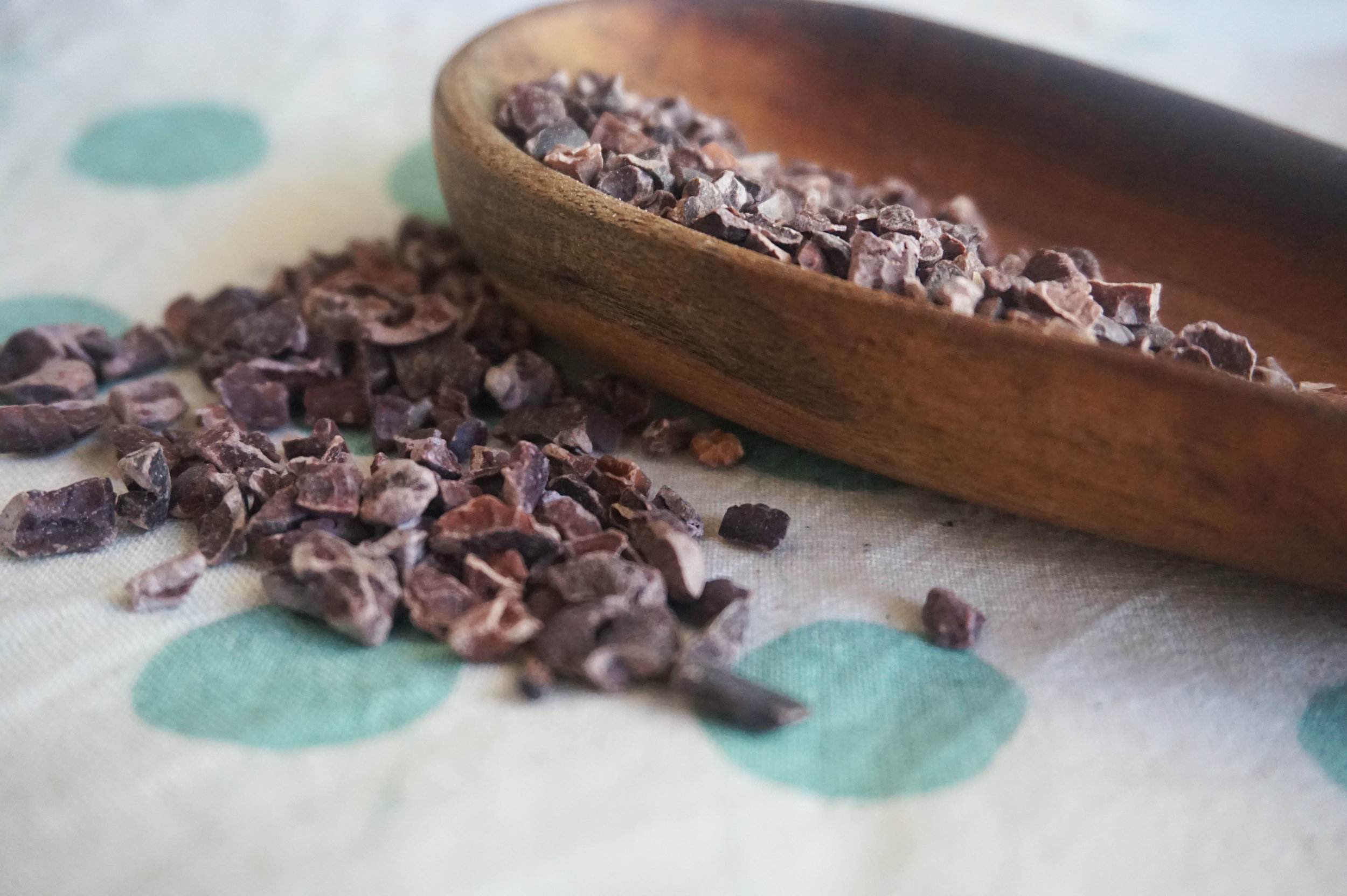 Fold in cacao nibs