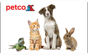 Petco   $25 - 250 Points  $50 - 500 Points  $100 - 1,000 Points