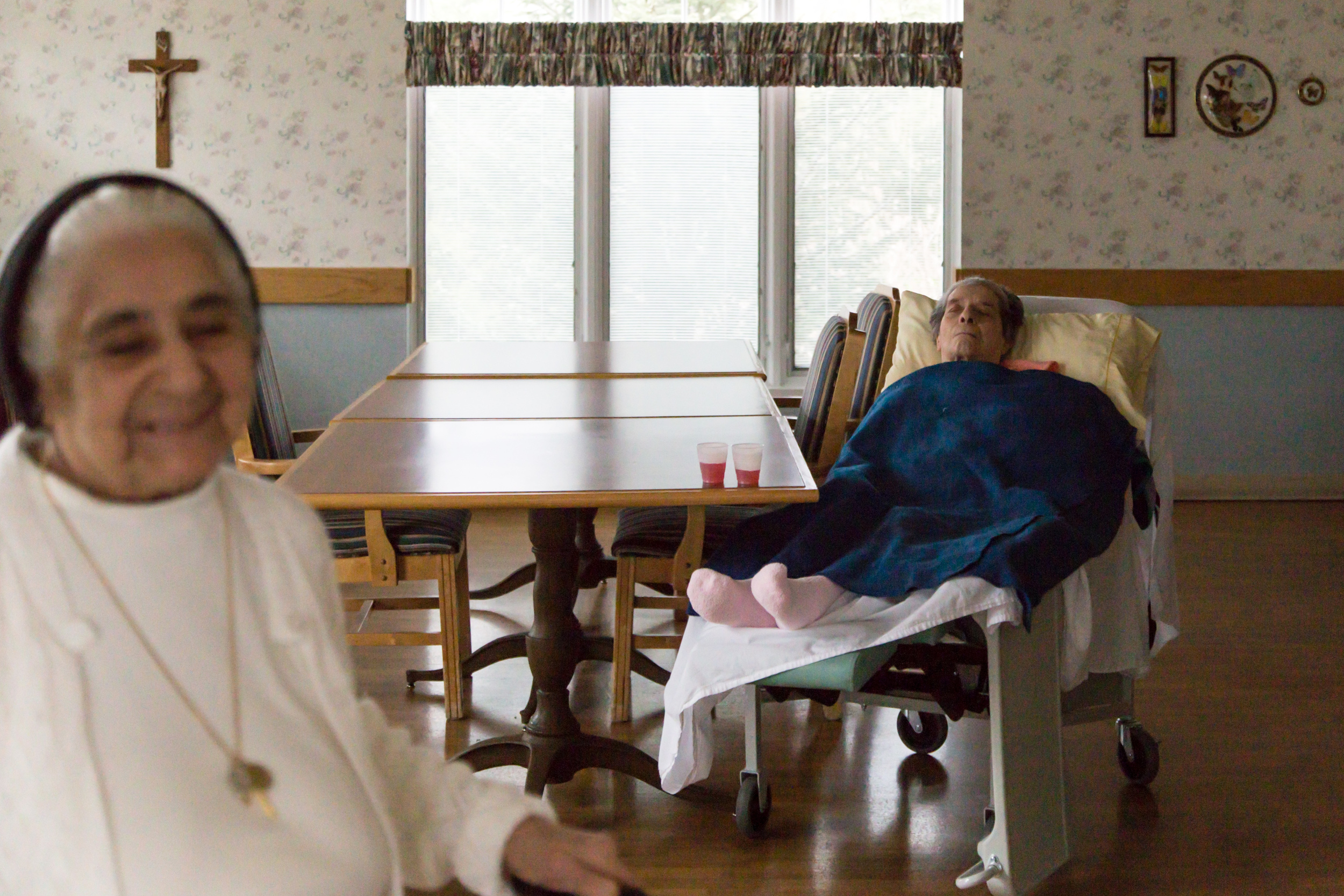 Approximately eighty aging Sisters live in the long-term care facility of Villa Walsh. They are able to maintain the opportunity to stay within the boundaries of their community encircled by Sisterly support.