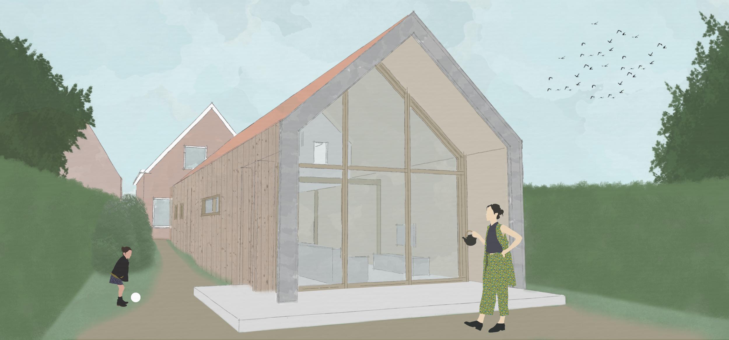 Kat Koree Architecten verduurzaming woonhuis Eegracht IJlst - energieneutraal cellulose isolatie