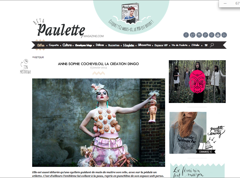 Paulette Magazine, 2013