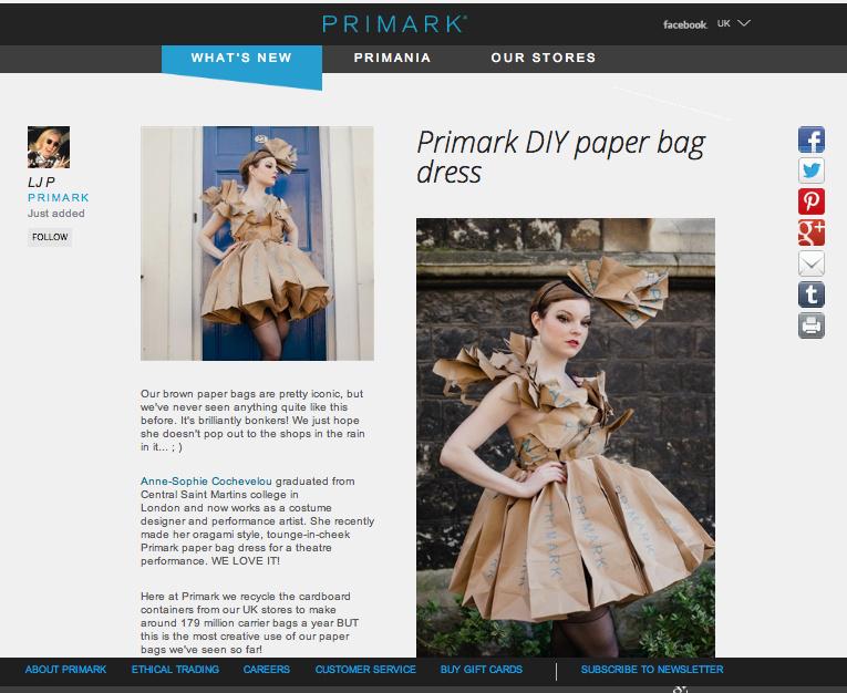 Primark Official Webiste, april 2014, UK