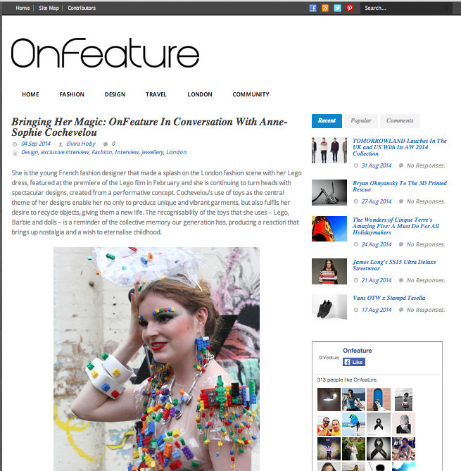 One Feature, september 2014, UK