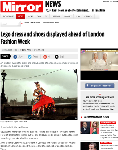 Mirror, London september 2013