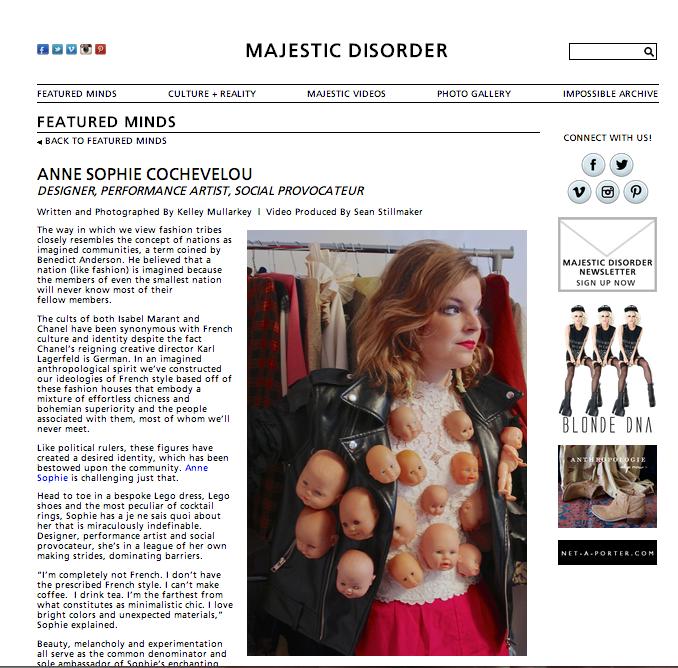 Majestic Disorder, october 2013, UK