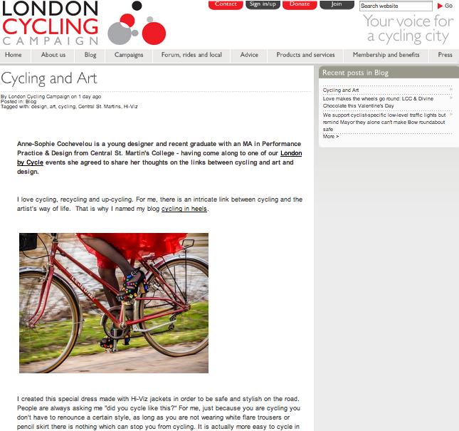 London Cycling Campaign, january 2014