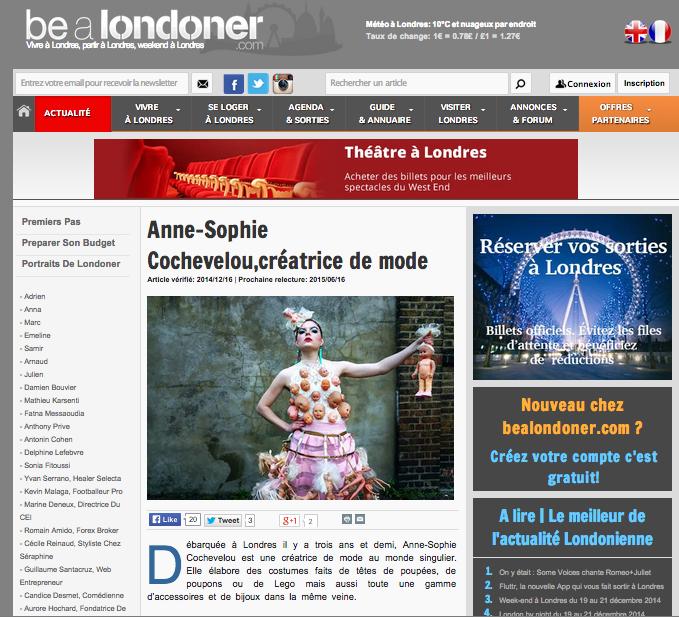 Be a Londoner, December 2014, UK