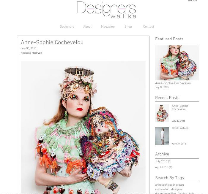 Designer We like, June 2015, UK