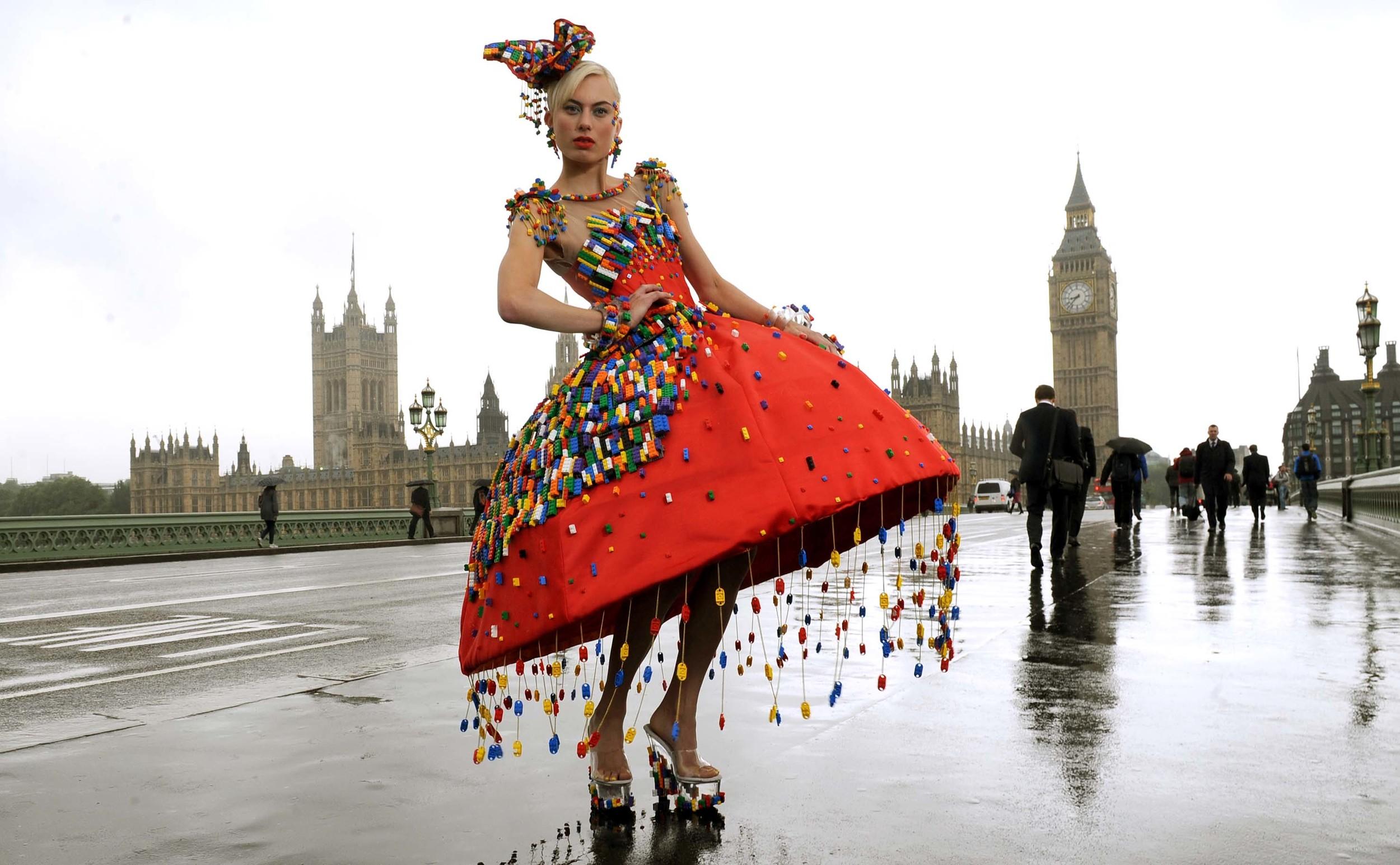 Lego Dress for London Fashion Week