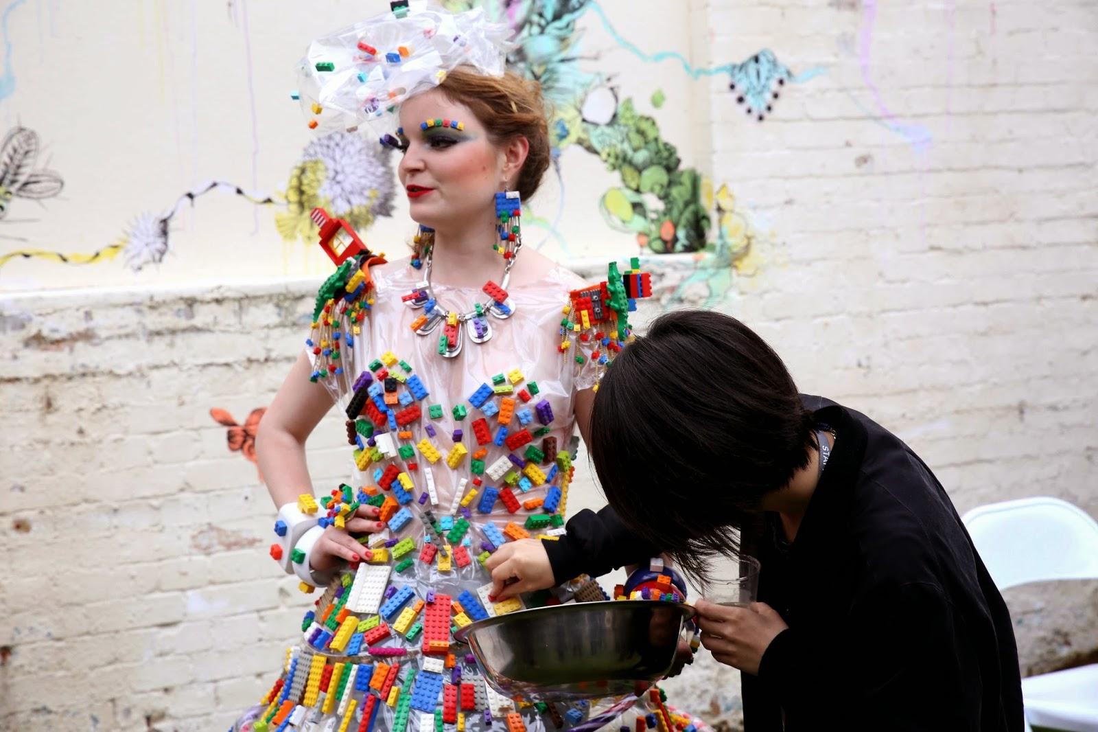 Lego dress- Barbican Ram place Festival