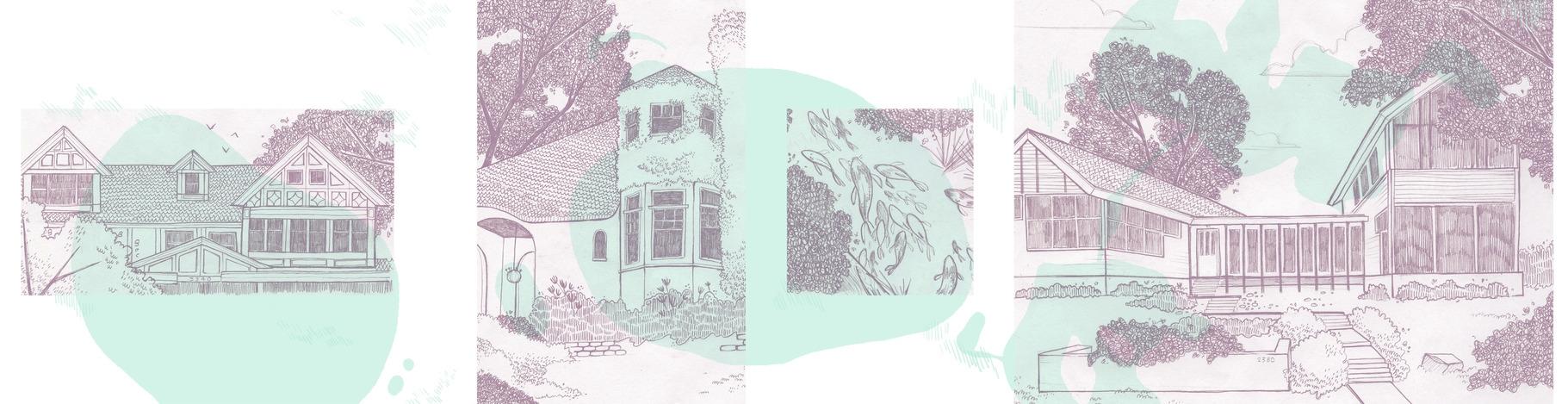LAKE HOUSE   Studies of famous homes around the Minneapolis lakes