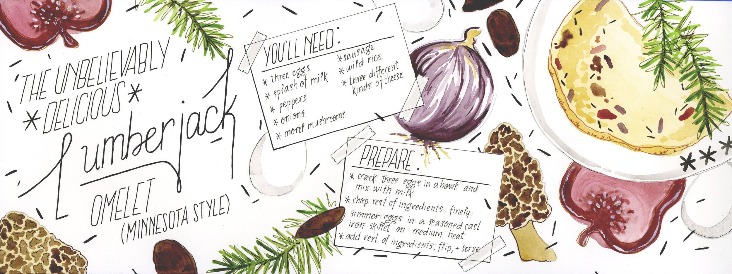 LUMBERJACK OMELET   Recipe guide