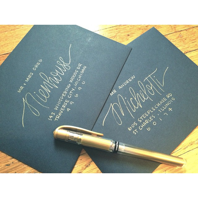 Envelope lettering samples