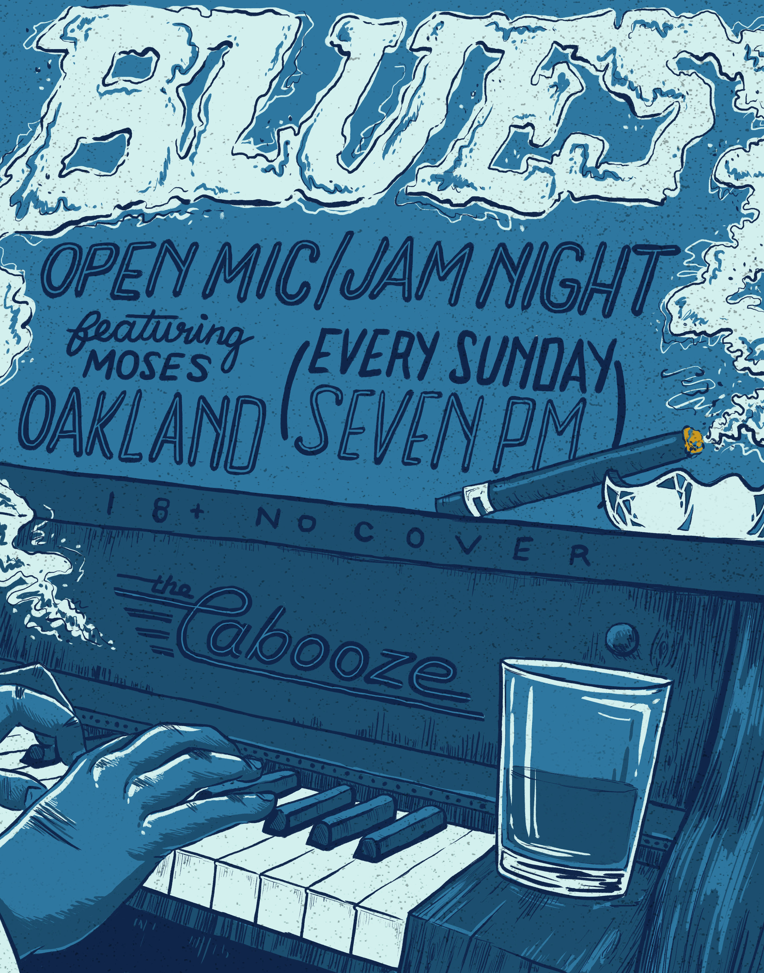 Blues Night   Show poster for The Cabooze