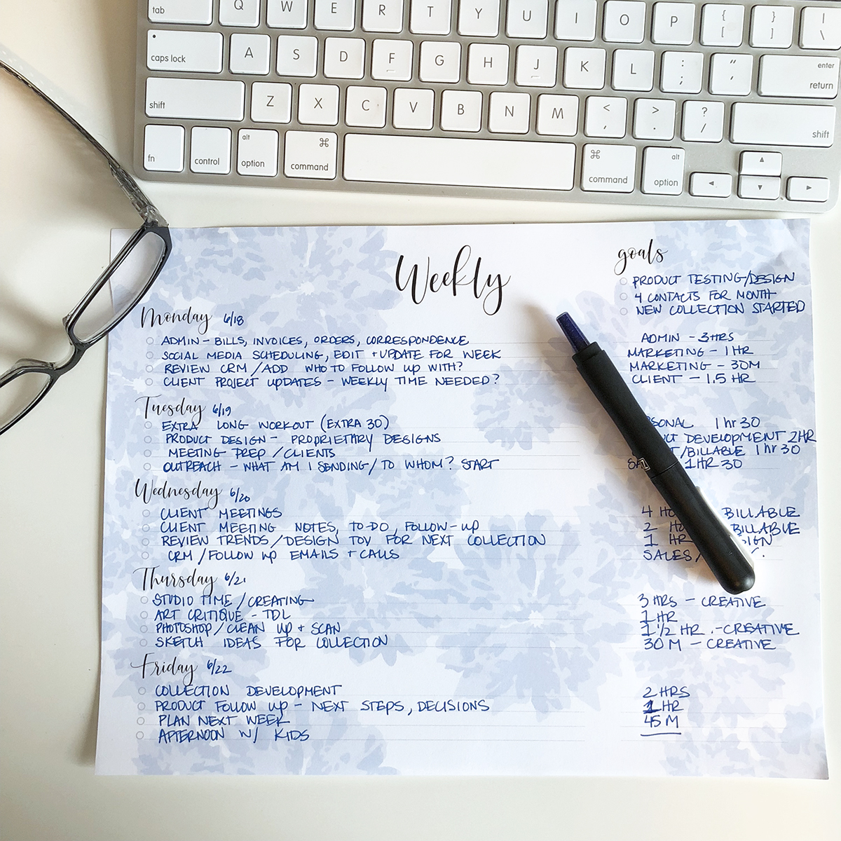 Our Weekly Planner Pad in action