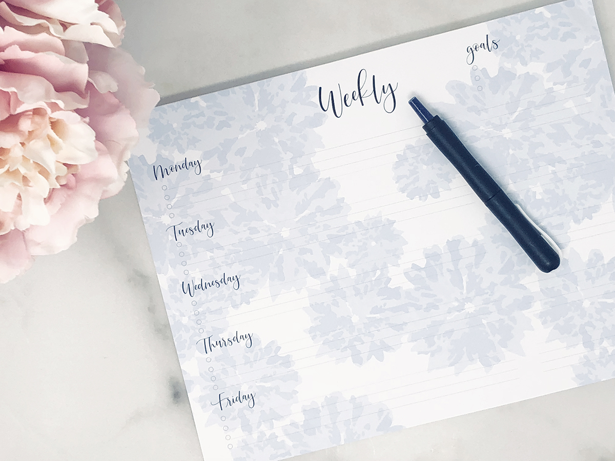 Our Weekly Planner Pad helps keep your goals on the agenda