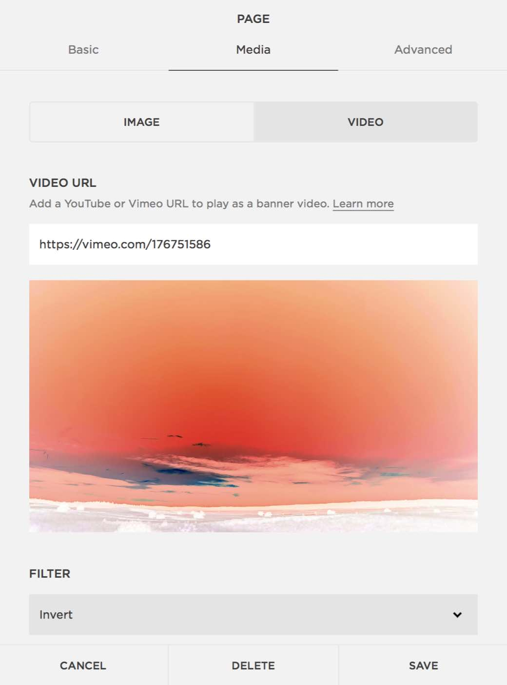 Invert Filter