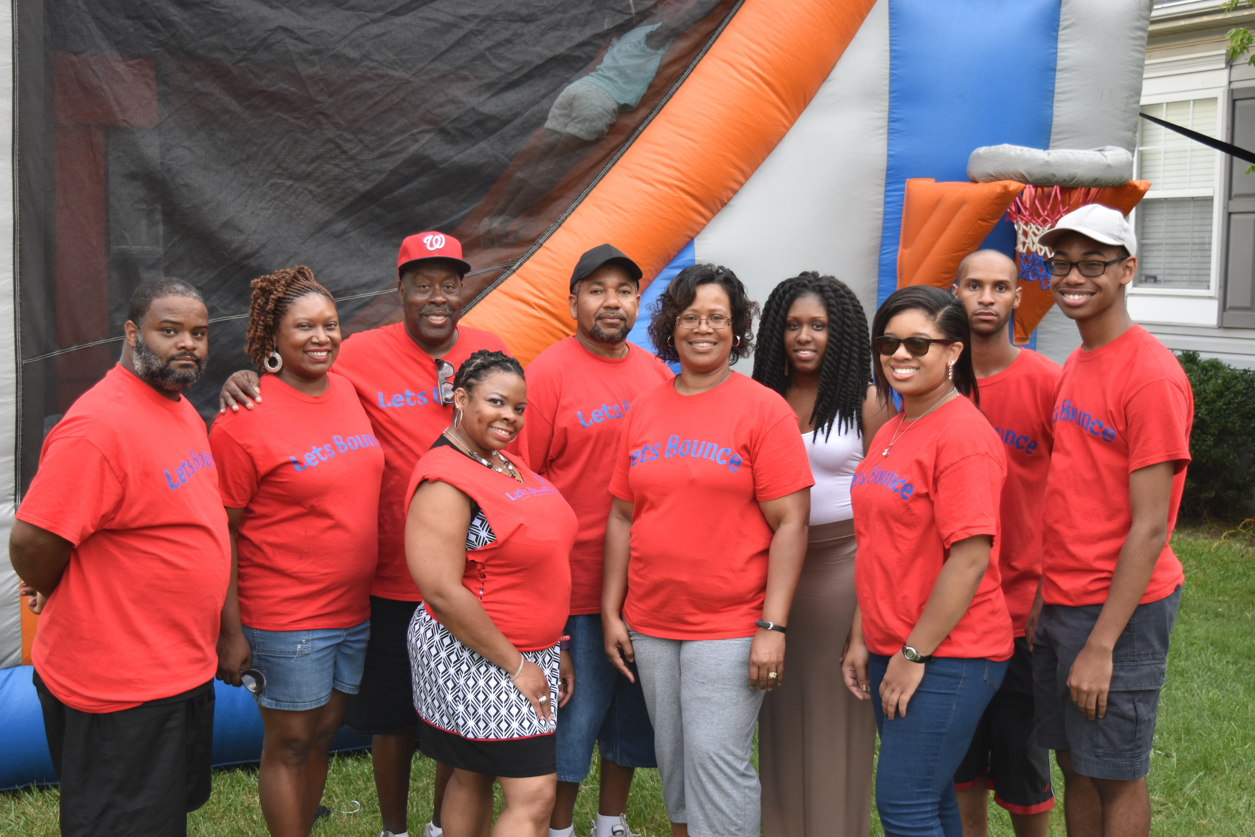Group employee photo of DMV based Let's Bounce, LLC moonbounce company.