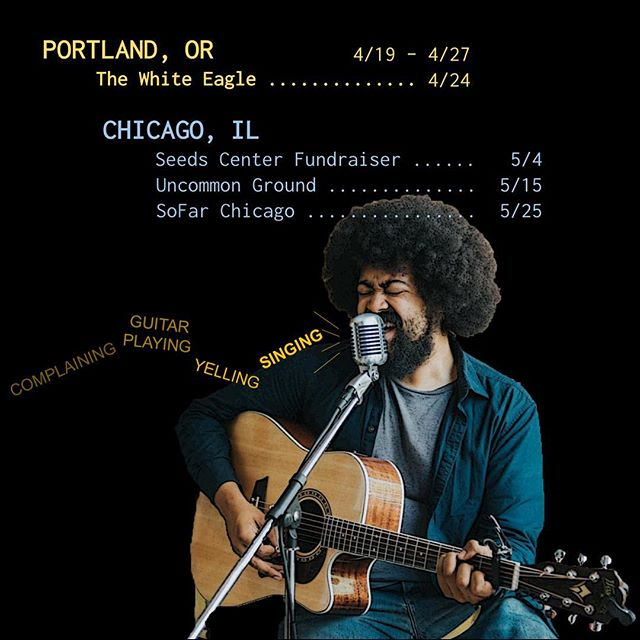 Got some shows coming up in #Chicago and I'm very excited to get to #Portland next week to record some live sessions with New Dew and play at @whiteeaglesaloon on the 24th. Spread the word if you can!