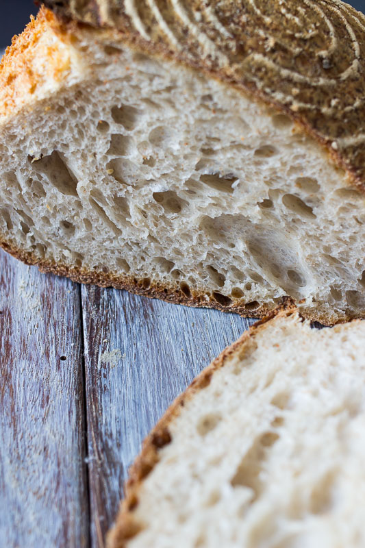 "White sourdough - Also known as ""Country loaf"". 90% White flour, 10% wholemeal flour."