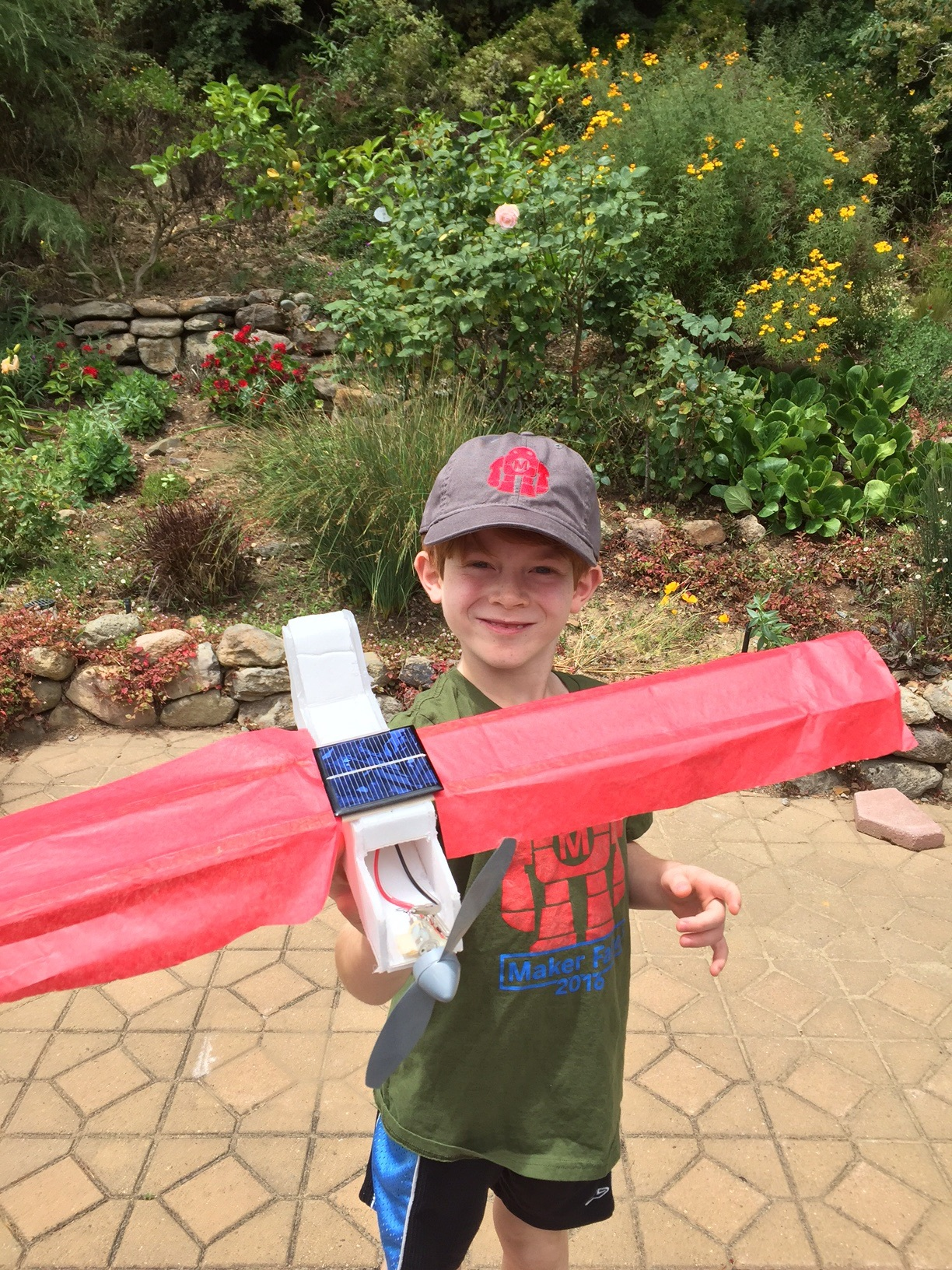 Young maker and solar-powered plane inventor Aiden, aged 8