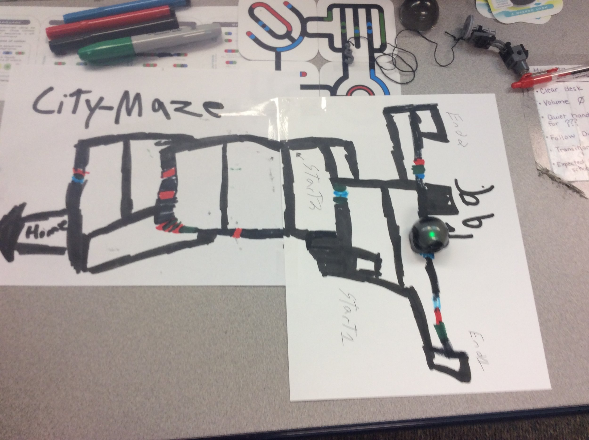 Ozobot following color codes