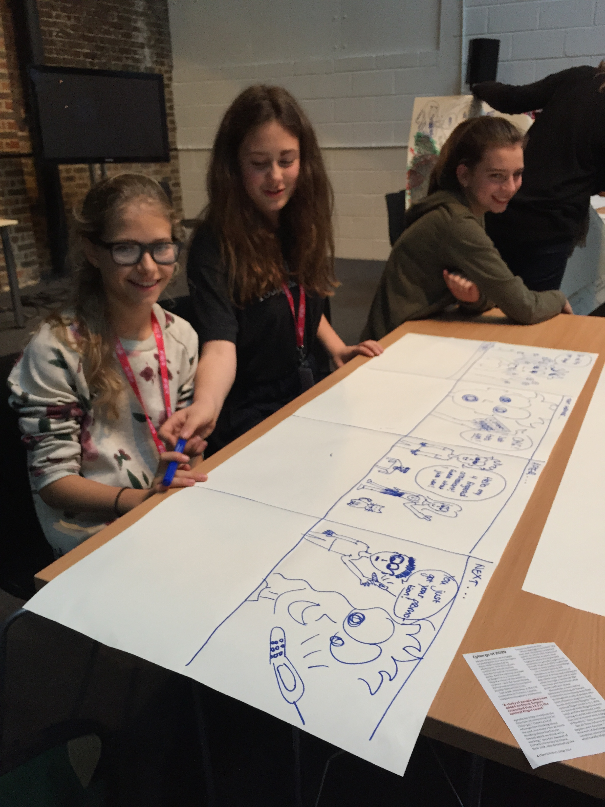 Animation workshop, at Wired's kids event in London